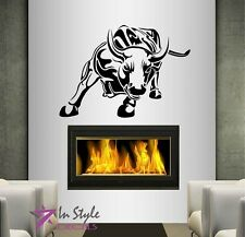 Wall Vinyl Decal Angry Bull Animal Room removable Wall Mural Art Sticker 137