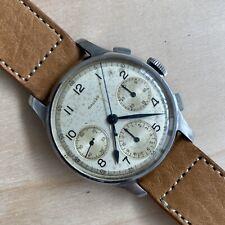 1940s Gallet Chronograph Valjoux 71 SS 36mm Wristwatch