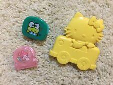 Vintage 1976 Hello Kitty My Melody plastic clip lot Sanrio