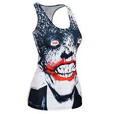 Da Donna Joker Fumetti Girls T Shirt Tank Top Cami Canotta donna DC taglia unica nuovo Regno Unito