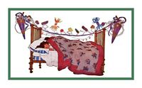 Jessie Willcox Smith Visions of Sugar Plums Xmas Countd Cross Stitch Chart