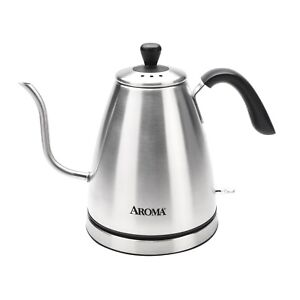AROMA 4-CUP CRAFT COFFEE GOOSENECK ELECTRIC KETTLE, SILVER