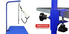 """Downtown Pet Supply Grooming Arm with Clamp (36"""" Adjustable 1 Haunch, Blue"""