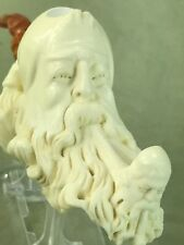 Dunhill Head PIPE-BLOCK MEERSCHAUM-NEW-HANDCARVED- W Case Stand Lighter