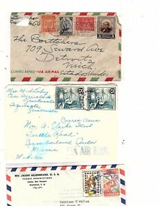 1942-89 Guatemala Covers 14 in auction some airmail  to USA (mb6