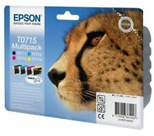 Epson Original T0715 Ink Cartridges T0711 T0712 T0713 T0714 C13T07154510 Set Of4