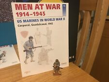 Del Prado Men at War 1914-1945, #15, US Marine Cpl Guadalcanal 1942, fig/book