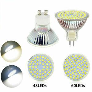 GU10 MR16 3W 4W 5W 2835 SMD 30 48 60LED Spotlight Light Globe Bulbs 12V 220V