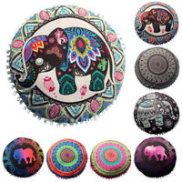 Indian Mandala Floor Pillows Round Bohemian Cushion Pillows Cover Huge Case