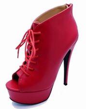 Calzado de mujer plataformas sin marca color principal rojo