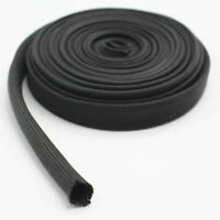 1pc Car Black Heat Protector Woven Sleeve Insulated Wire Hose Cover Wrap Tube 1m