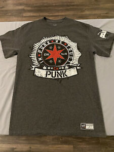 CM Punk Best In The World Gray WWE T Shirt Size M