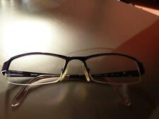 MOSCHINO 3214 opt.Brille Brillengestell dunkel Lila Halb-Randlos - Neuwertig