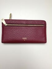 Fossil Oxblood Bubble Leather Wallet/purse Coin And Card Slots BNWOB