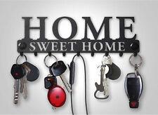 Pannello Porta Chiavi 9 Mazzi Design Moderno Industrial Acciaio Nero Sweet Home