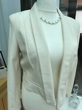 New with Tags - size 16 Kardashian Kollection Lipsy PU jacket Cream
