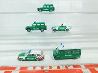BN64-0,5# 5x Wiking H0/1:87 Polizei-Modell Mercedes-Benz/MB: 230 TE etc, NEUW