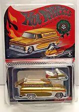 Hot Wheels 2016 Red Line Club RLC Holiday Car - Gold '64 GMC Panel w/RR #'d/5000