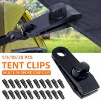Awning Tent Clamp Tarp Clips Camping Hangers Plastic Canopy Buckle Heavy Duty AU