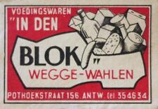 Old Print. Blok Wegge-Wahlen - matchbox cover art (Belgium)