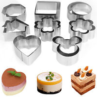 Ring Cake Mold Cutter Cookie Fondant Stainless Steel Biscuit Pastry Baking Tool
