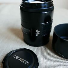 Minolta AF 100mm 2.0 lens - Excellent - for Sony and Minolta A mount cameras