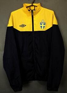 MENS UMBRO SWEDEN NATIONAL JACKET TRAINING 2011/12 SOCCER FOOTBALL HOODIE SIZE M