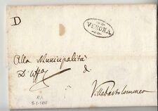 1810 VENETO REGNO Napoleonico lettera VERONA-VILLABARTOLOMEA+LETTERA D-g617