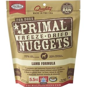 Primal Freeze Dried Lamb Nuggets Dog Food 5.5oz