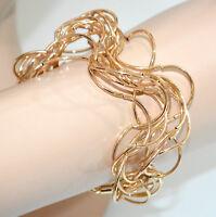 PULSERA mujer oro sexy brazalete alambres ondulados ceremonia fiesta armband G10