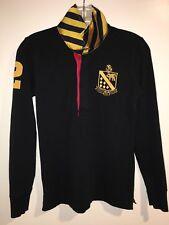 Polo Ralph Lauren Rugby Shirt Boy's Small S Black Gold