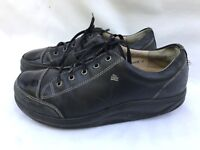 Finn Comfort Black Leather Lace Oxfords Shoes Patent Leather Toe Sz 5