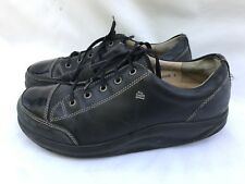Finn Comfort Black Leather Lace Oxfords Shoes Patent Leather Toe Sz 5