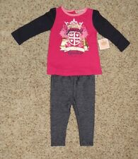 Juicy Couture Baby Girls 2 Piece Jegging Set - Size 6-12 Months - NWT