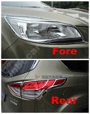Chrome Head light and Tail light cover trim For Ford Escape Kuga 2013 2014 + New