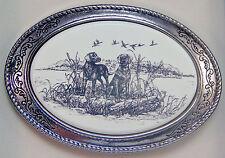 Belt Buckle Barlow Scrimshaw Carved Pinted Art Lab Pair Labrador Dog 592545 Labs