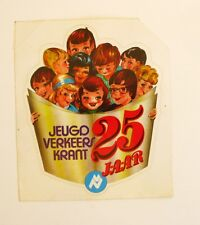 Autocollant JEUGA VERKEERS KRANT - 25 ans -  Sticker   Année 70/80  Vintage