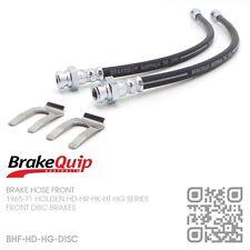 BRAKEQUIP DISC FRONT BRAKE HOSE KIT [HOLDEN HD-HR-HK-HT-HG UTE/VAN/SEDAN/WAGON]