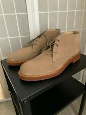 Brand New Unused Beige Suede Ankle Boots Size 9 US by Ermenegildo Zegna