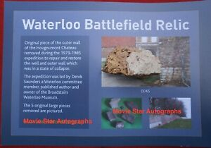 Waterloo Battlefield Large piece of Hougoumont wall recovered during restoration