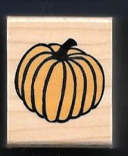 PUMPKIN STEM small FALL SQUASH Autumn Hero Arts 2001 Wood Craft Rubber Stamp