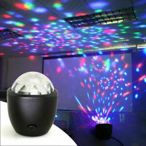 Mini Stage Light Disco Magic Strobe Ball Multicolor LED Party Club KTV DJ Bar UK