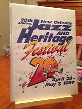 """20th """"NEW ORLEANS JAZZ AND HERITAGE FESTIVAL 1989"""" EVENT PROGRAM / MAGAZINE"""