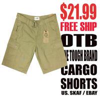 OTB One Tough Brand Men's NWT Classic Khaki Cargo Shorts $21.99 Free Shipping