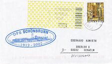 AUSTRIAN RIVER CRUISE SHIP DFS SCHONBRUNN A SHIPS CACHED COVER