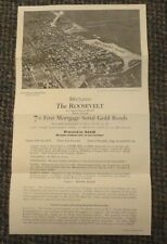 1925 Miami Florida The Roosevelt Apartment Hotel First Mortgage Gold Bonds offer