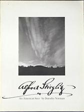 Dorothy Norman. Alfred STIEGLITZ. An American Seer. Aperture, 1973.