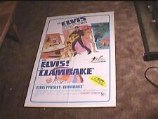 ELVIS PRESLEY CLAMBAKE  1967 ORIG MOVIE POSTER
