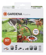 Gardena 8255-20 Sprinklersystem Start-Set für Garten-Pipeline mit Wasserstop