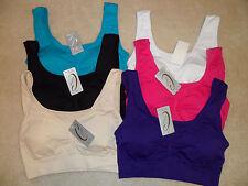 Women Girls Bra Top Sports Active Wear Workout Yoga Fitness Bra Top Seamless